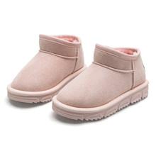 ילדים חורף זמש מגפי 2019 מעצב חדש בני בנות חם בפלאש שלג מגפי החלקה ילדי נעלי בוטה Infantil(China)