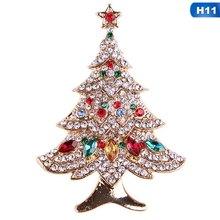 Fashion Yang Indah Tahun Baru Natal Boots Bros Santa Claus Rusa Penguin Sepatu Kereta Berlian Imitasi Bros Perhiasan Hadiah(China)