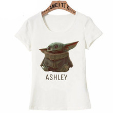 Hip Hop Stijl Nieuwe Star Wars Porgs Zijn Zo Leuke Print T-shirt Fashion Vrouwen Korte Mouw Straat Kawaii Kind Baby yoda Ontwerp Tee(China)