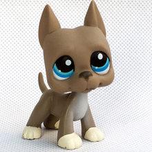 Lps gato raro animal pet shop lps brinquedos cão dachshund collie cocker spaniel great dane husky antigo original filhote de cachorro figura coleção(China)