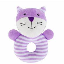 Милые мягкие животные, мягкие плюшевые погремушки, игрушки для мальчиков и девочек, игрушки для малышей(China)