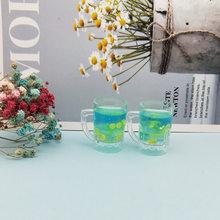 6 Cái Rượu Hoa Quả Nhựa Hạt Mặt Dây Chuyền 3D Cô Gái Ngọt Uống Nổi DIY Móc Khóa Trang Sức Trang Trí Phụ Kiện Chụp Ảnh Đạo Cụ FX205(China)
