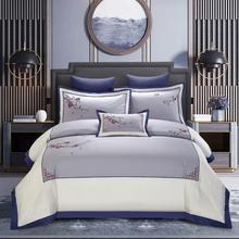 4/7pcs Egyptian cotton Embroidery Duvet Cover Sets King Size Bedding Sets Pillowcases jogo de cama Bed Linen(China)