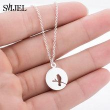 SMJEL acier inoxydable David étoile pendentif colliers clavicule chaînes mode collier femmes bijoux loup clé tour de cou rond bijoux(China)