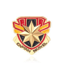 Super Hero Captain America Bros Avengers Set Perisai Bulat Merah Enamel Lencana Fashion Bros Pin untuk Wanita penggemar(China)