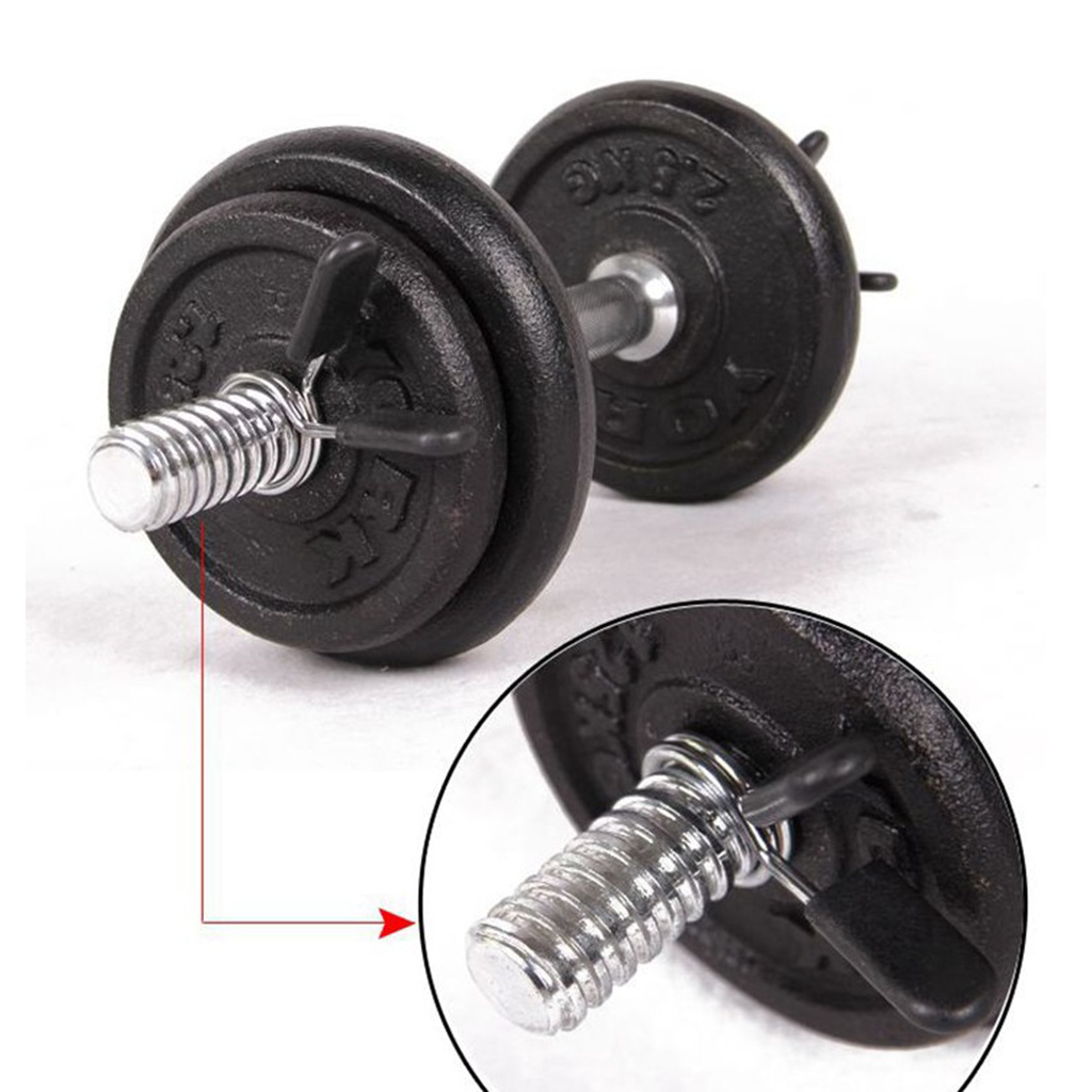 1 Piece 24/25/28/30mm Gym Barbell Spinlock Collars Weight Lifting Bar Spring Clamp Dumbbell Lock Steel Collar Clips Adjuster