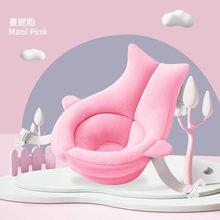 漫画ポータブル赤ちゃんノンスリップバスタブシャワー浴槽マット新生児安全セキュリティバスエアクッション折りたたみソフト枕シート(China)