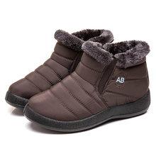 Frauen Stiefel 2019 Neue Wasserdichte Schnee Stiefel Für Winter Schuhe Frauen Lässig Leichte Ankle Botas Mujer Warme Winter Stiefel Weibliche(China)