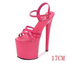 Model sandals for women 2020 new summer fashion 17cm-20cm versatile sexy, high-heeled stiletto sandals(China)
