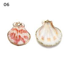 5 Pcs טבעי ים פגז קונכייה עבור DIY צמיד עגילי שרשרת Keychain קסמי Boho תליון ממצאי ילדים DIY צעצועי קסמי(China)