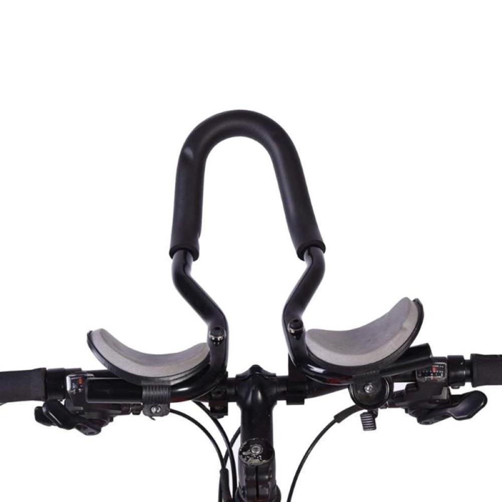 SODIAL Nuevo Barra de Resto de Bicicleta Manillar TT para Triatl/óN Contrarreloj Tri Ciclismo Bicicleta Manillar de Resto de Bicicleta de Monta?A