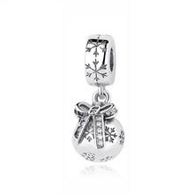 Original 100% 925 prata esterlina grânulo charme natal trem casa árvore santa encantos caber pandora pulseiras feminino jóias diy(China)