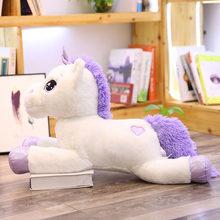 Tamanho gigante 110cm unicórnio brinquedo de pelúcia macio recheado arco-íris unicórnio boneca animal brinquedo de cavalo presentes alta qualidade para crianças meninas(China)
