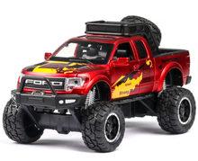 Baru Pickup Truk Mainan 1:32 Model Pick-Up Mobil Mainan untuk F150 Raptor Cahaya Suara Geser Mobil sepeda Motor untuk Anak-anak Mainan Hadiah(China)