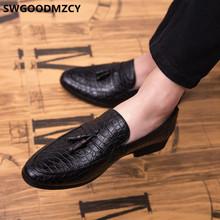 Обувь с кисточками; Мужская официальная кожаная обувь; Мужская классическая Свадебная обувь; 2020; Блестящие лоферы; Мужские вечерние туфли; К...(China)