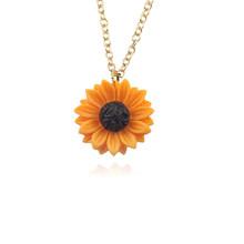 Vous êtes mon soleil ouvert médaillon tournesol pendentif collier pour femmes hommes collier chaud personnalisé livraison directe gratuite saint valentin(China)