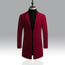 CYSINCOS 2019 nowe zimowe kurtki wiatrówka płaszcz mężczyźni jesień ciepła odzież zimowa marka Slim męskie płaszcze kurtki okazjonalne płaszcz męski(China)