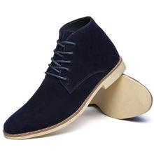 SAGACE Stiefeletten Für Männer Business Herren Stiefel Wildleder Casual Schuhe Outdoor Leder Herren Winter Schuhe Männlichen Schwarz Blau Gelb(China)