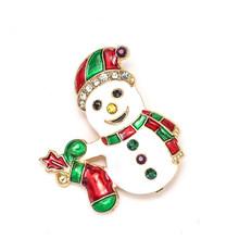 Baru Natal Bros Lucu Santa Claus Topi Sarung Tangan Lonceng Kaus Kaki Donat Permen Enamel Pin Bros untuk Wanita Perhiasan hadiah(China)