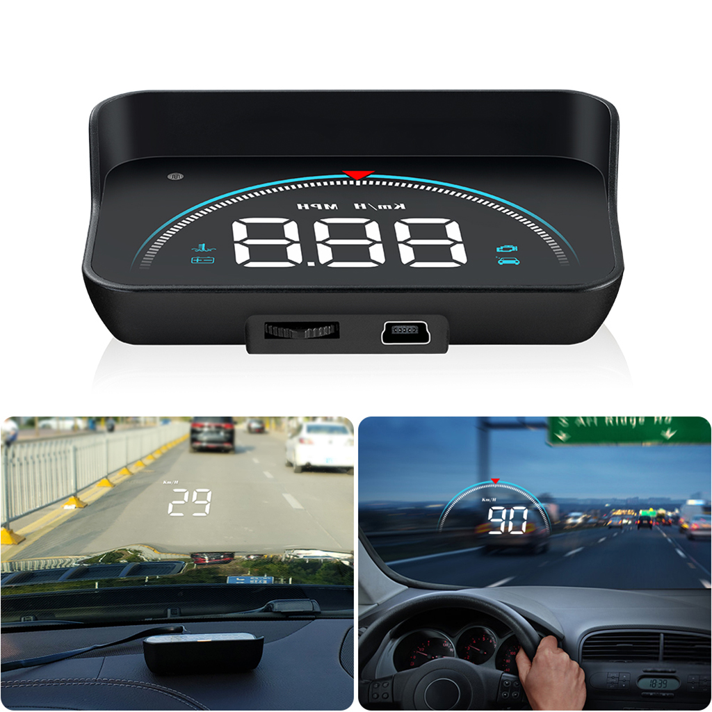 M8 Car HUD Head Up Display OBD2 II Overspeed Warning System Projector Windshield Auto Electronic Voltage Alarm RPM Car Styling