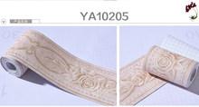 Высокое качество цветок обои границы водонепроницаемый ванная комната плитка 3d ПВХ Винтаж цветочные стены отделка линии плинтуса Доска ст...(Китай)