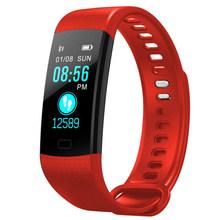 TOLASI, для женщин, мужчин, умный браслет, Bluetooth, пульсометр, кровяное давление, шагомер, часы, светодиодный, спортивный браслет, часы для Android IOS(China)