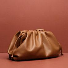 餃子本革バッグ 2019 新しい女性ショルダーメッセンジャーバッグための小型の高級ハンドバッグの女性のデザイナー倍(China)