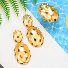 GODKI 2019 טרנדי קסמי דובאי הצהרת עגיל טבעת תכשיטי סטים לנשים זהב מעוקב Zirconia עגילי חתונת תכשיטי סט(China)