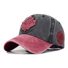 ผ้าฝ้ายแบรนด์ Gorras แคนาดาธงชายเบสบอลหมวกแคนาดาหมวก Snapback กระดูกปรับ Wonmen เบสบอลหมวก Snapback หมวก(China)