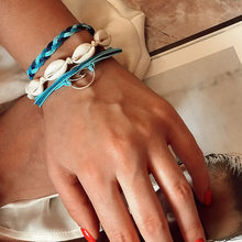 VKME בוהמי חבל צמידי סט לאישה גברים אוהבי 2019 תוספות מתכוונן רב שכבתי צמיד ידידות תכשיטים מתנות(China)