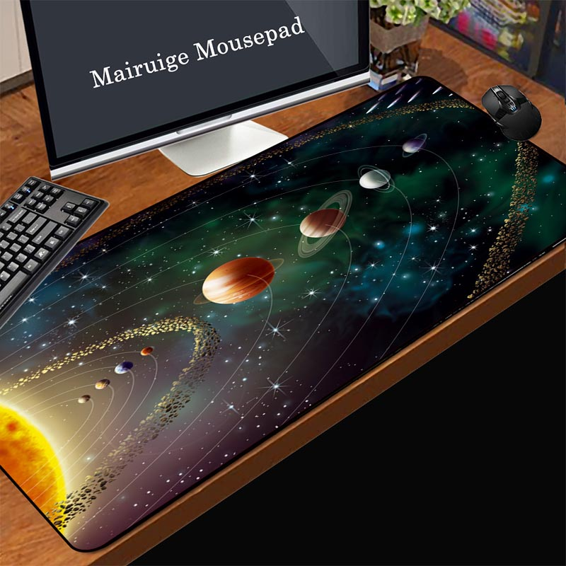 Suitable for Desktop//Notebook,900x400mmx5mm Mouse Pad Large Padded Waterproof Non-Slip Keyboard Pad HD Marble Style Desk Pad