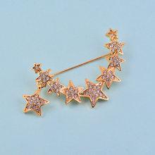 SINLEERY แฟชั่น Rose Gold Silver สีดาวคริสตัล(China)