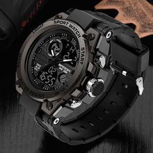 SANDA marque montre-bracelet hommes montres militaire armée Sport Style montre-bracelet double affichage homme montre pour hommes horloge étanche heures(China)
