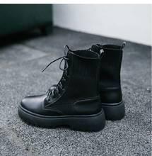 VESONAL 2019 Thu Đông nền tảng Tất Giày Da Nữ Giày Boot Nữ Người Phụ Nữ Giày(China)