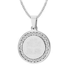 4 Qul naszyjnik muzułmański islamski Hajj Umrah Monogram srebrny CZ kamień wisiorek mężczyzn biżuteria(China)