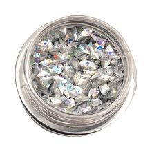 1G/Kotak Holo 3D Diamond Payet Super Mengkilap Segitiga Paillette Nail Art Dekorasi AB Bunglon Kuku Glitter Payet(China)