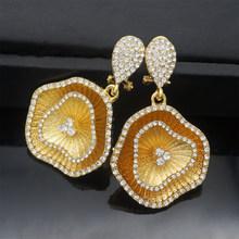 Tembaga Anting-Anting Liontin Perhiasan Desain Baru untuk Wanita Afrika Anting-Anting Pernikahan Hadiah(China)