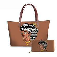 FORUDESIGNS Mulheres Sacos para a Arte Negra Africano Meninas Projeto Luxury Handbag Purse & Set Ladies Top-Handle Sacos Fêmeas saco de praia 2019(China)