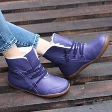BONJOMARISA Dropshipping 34-43 parlak renk kürk botlar bayanlar rahat sıcak ayak bileği kar botları kadın 2020 kış alçak topuk ayakkabı kadın(China)