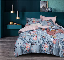 2019 egyptia cotton Tropical plant printing Bedding Set for adults 4Pcs King Queen size Duvet Cover Bed Sheet set Pillowcases(China)