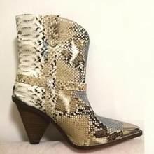 Metal sivri burun başak yüksek topuklu botları kadın leopar ayakkabı püskül şövalye çizmeler rahat serseri ayak bileği Botas Mujer büyük boy 43(China)