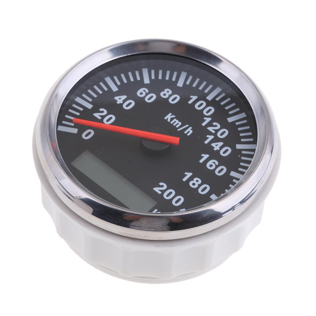 Stainless Steel 85mm GPS Speedometer 200km/h Odometer For Car Truck Motorcycle Waterproof