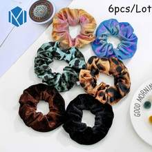INS 1pc Velvet Scrunchy For Women/Girls Leopard Strip Rubber Bands Rabbit Ears Hair Tie Ponytail Holders Hair Accessories(China)