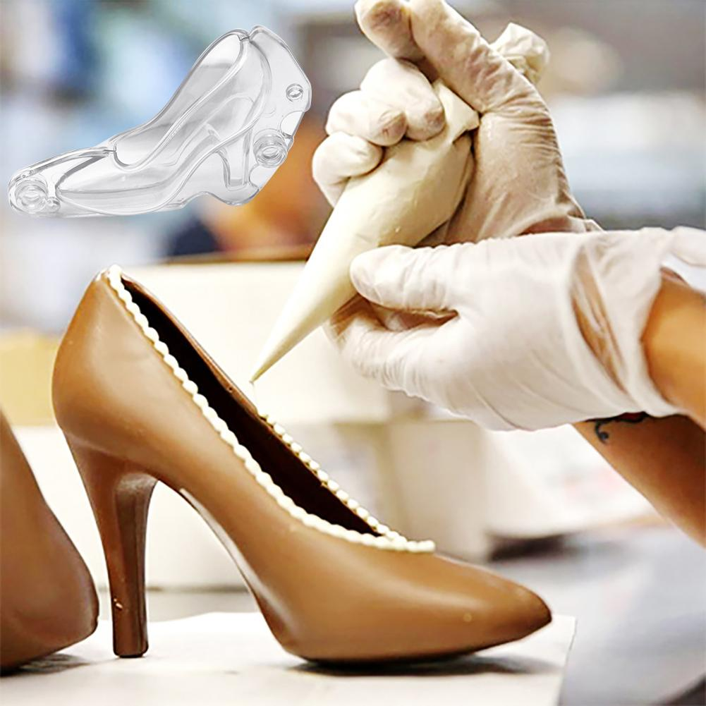 Women High Heel Shoes Chocolate Candy Mould 3D Fondant Jelly Cake Mold for DIY