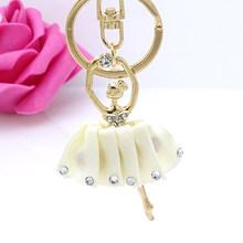 Moda bonito anjo chaveiro pingente de strass liga acessórios de jóias carteira chave do carro acessórios senhoras chaveiro presente 4 cor(China)