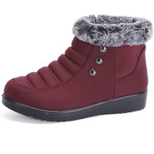 Mới Nữ Giày Nữ Mùa Đông Ấm Da Lông Thú Ủng Thoáng Khí Bạn Nữ Thoải Mái Giày Nhẹ Giày Lớn(China)