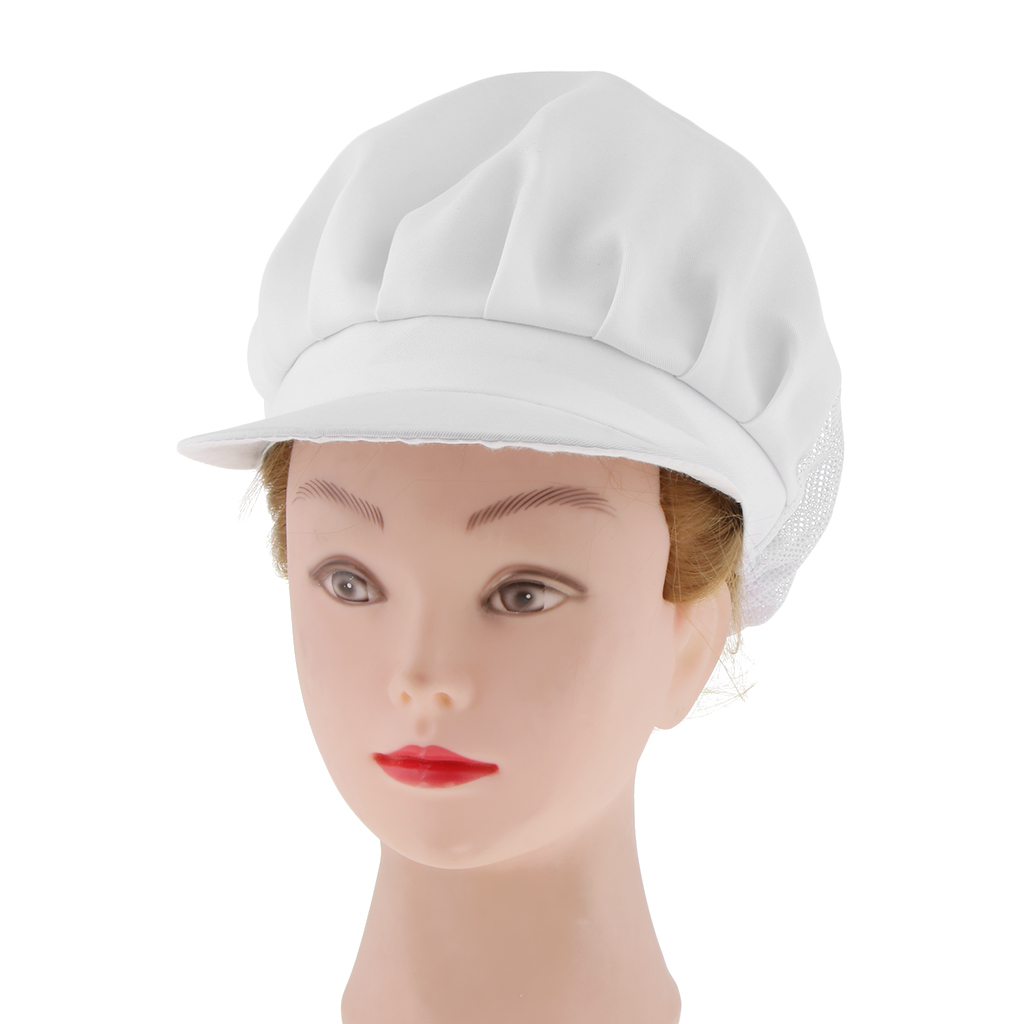 Adjustable Chef Hat Chef Visor Cap Gastronomy Headgear Bistro Beanie Hat Chef Hat breathable mesh White Food caps
