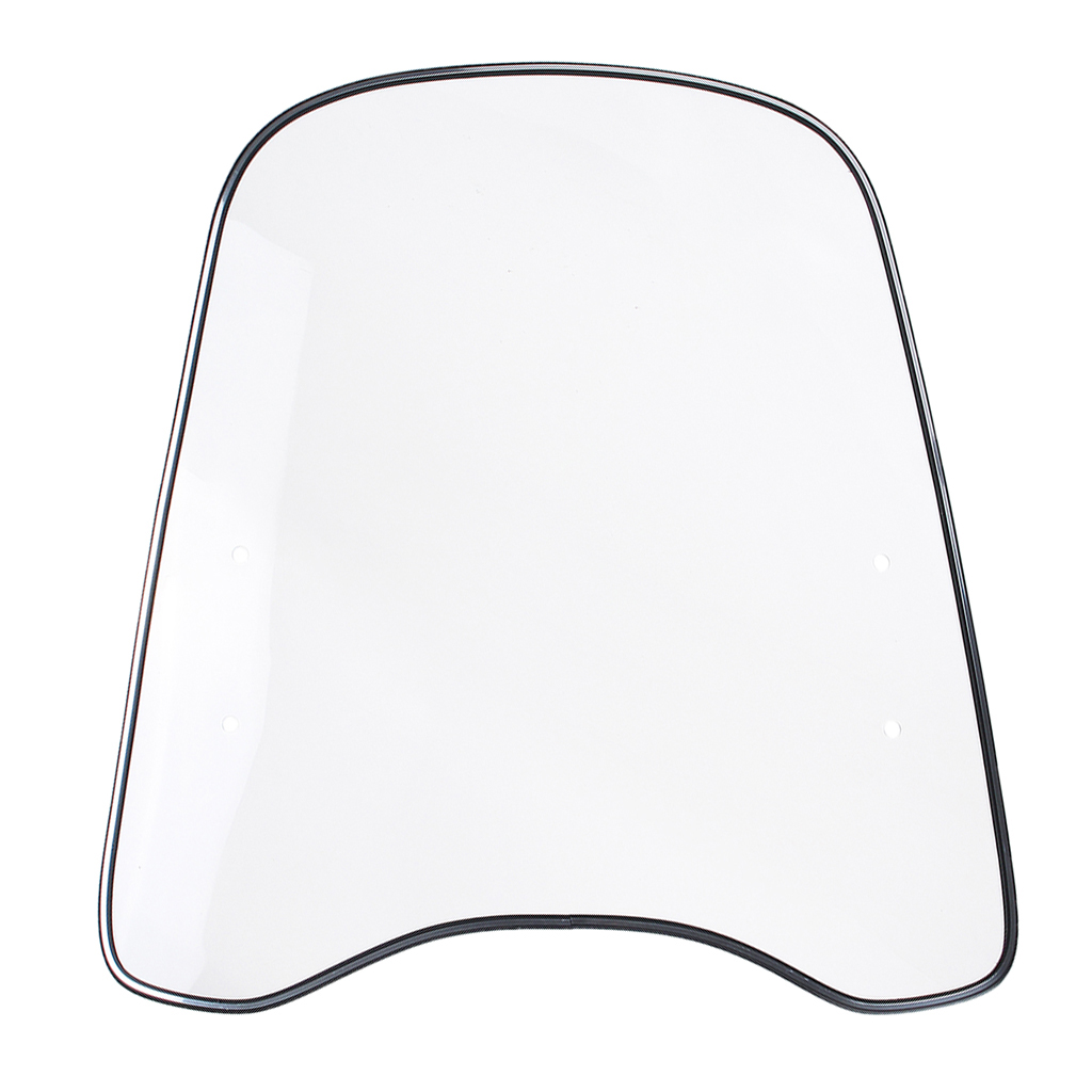 Windproof Universal Clear Front PC Windshield Windscreen For Motorcycle Motorbike Scooter Wind Deflector Protector Guard Shield