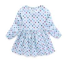 2019 осеннее платье для девочек, хлопковые детские платья с длинными рукавами, детские платья в горошек для девочек, модная одежда для девочек(China)