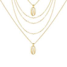 17 קילומטר בוהמי תליון רב שכבתי שרשרת נשים ארוך זהב שרשרת עגול קריסטל קולר קולרים שרשרת חתונה תכשיטי מתנות(China)
